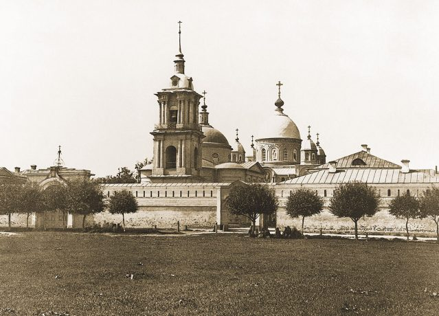 Intercession (Pokrovsky) Monastery in Moscow, 1882. Photo by Sherer, Nabgolts