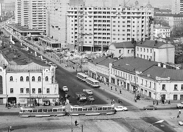Former monastery hotel in the 1970s. The view from Taganskaya street